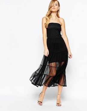 photo Emma Strapless Dress in Black by Body Frock, color Black - Image 1