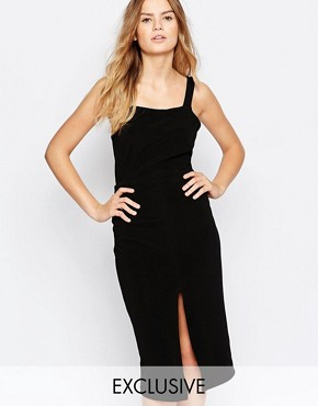 photo Midi Dress with Strappy Back by Twin Sister, color Black - Image 1