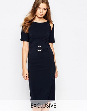 photo A Line Midi Dress by Twin Sister, color Navy - Image 1
