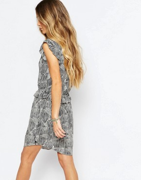 photo Printed Ruffle Dress by Maison Scotch, color Multi - Image 2
