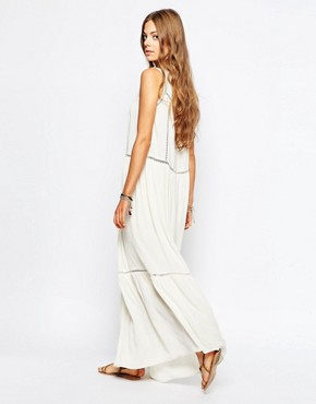 photo Maxi Dress with Cut Out Detail by Maison Scotch, color White - Image 2