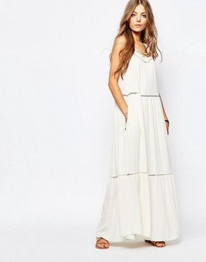 photo Maxi Dress with Cut Out Detail by Maison Scotch, color White - Image 1