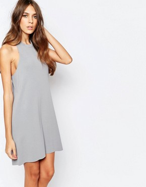 photo Knitted Cross Back Dress by Neon Rose, color Grey - Image 2