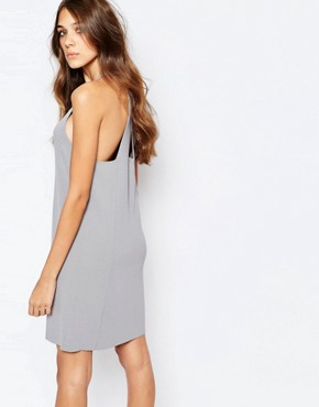 photo Knitted Cross Back Dress by Neon Rose, color Grey - Image 1