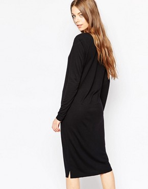 photo Lisa Dress in Black by Selected, color Black - Image 2