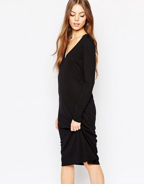 photo Lisa Dress in Black by Selected, color Black - Image 1