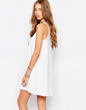 photo Lace A-Line Dress by Abercrombie & Fitch, color White - Image 2