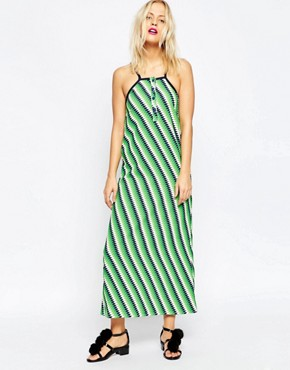 photo Midi Slip Dress by House of Holland, color Green - Image 1