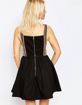 photo Embroidered Strap Dress by House of Holland, color Black - Image 2
