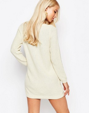 photo Jumper Dress with Bobble Detail by See U Soon, color Off White - Image 2