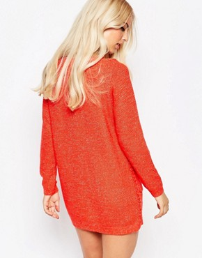 photo Jumper Dress with Bobble Detail by See U Soon, color Red - Image 2