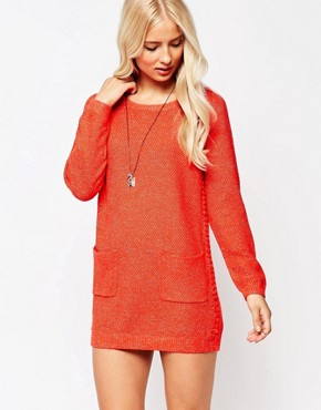 photo Jumper Dress with Bobble Detail by See U Soon, color Red - Image 1