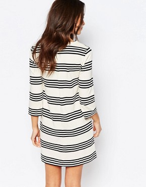 photo Stripe Shift Dress by Esprit, color Off White - Image 2