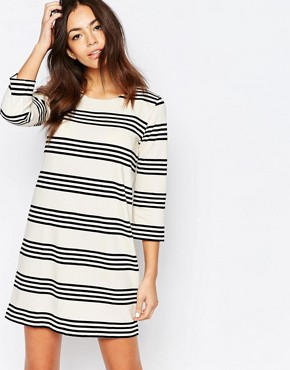 photo Stripe Shift Dress by Esprit, color Off White - Image 1