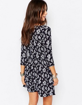 photo All Over Floral Print Swing Dress by Esprit, color Navy - Image 2