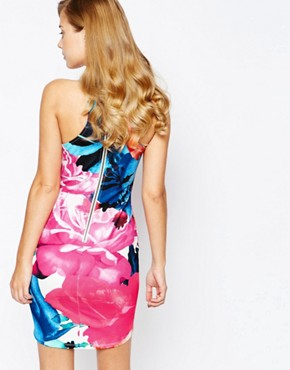 photo All Over Floral Bodycon Dress by Ginger Fizz, color Multi Floral - Image 2