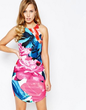 photo All Over Floral Bodycon Dress by Ginger Fizz, color Multi Floral - Image 1