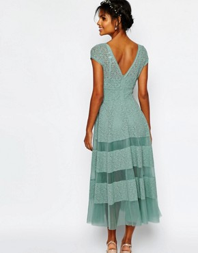 photo Wedding Tulip Dress by Body Frock, color Dusty Mint - Image 2