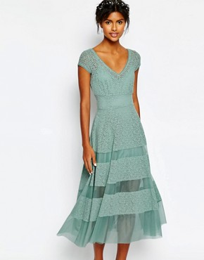 photo Wedding Tulip Dress by Body Frock, color Dusty Mint - Image 1