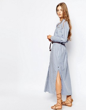 photo Maxi Shirt Dress by Maison Scotch, color Blue - Image 2