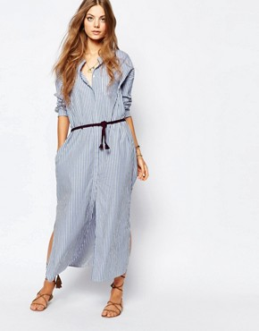 photo Maxi Shirt Dress by Maison Scotch, color Blue - Image 1