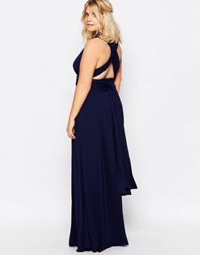 photo Ainsley Multiway Dress by Fame and Partners Plus, color Navy - Image 2