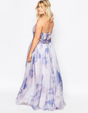 photo River Pastel Maxi Dress by Fame and Partners Plus, color Multi - Image 2