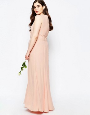 photo Maxi Dress with Fishtail by Fame and Partners Plus, color Lotus - Image 2