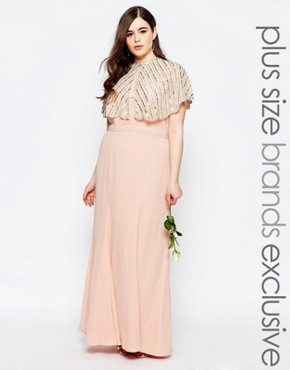 photo Maxi Dress with Fishtail by Fame and Partners Plus, color Lotus - Image 1