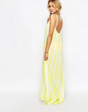 photo Stripe Beach Maxi Dress by Wildfox, color Yellow Daisy - Image 2