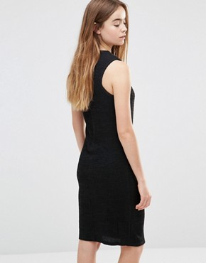 photo Racer Front Knit Dress by Shades of Grey, color Black - Image 2