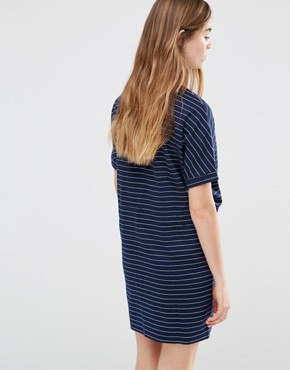 photo Judo Belt Bag Striped Dress by Shades of Grey, color Navy/White Stripe - Image 2