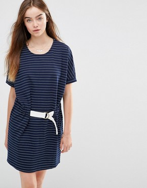 photo Judo Belt Bag Striped Dress by Shades of Grey, color Navy/White Stripe - Image 1