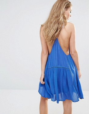 photo Varacruz Mini Dress with Tassel Bib by Piper, color Cobalt Blue - Image 2
