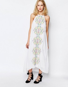 photo Bima Embroidered Maxi Dress by Piper, color White - Image 1