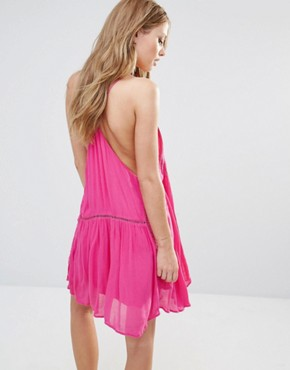 photo Varacruz Mini Dress with Tassel Bib by Piper, color Fuchsia - Image 2