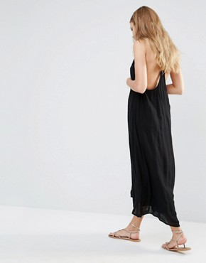 photo Bima Embroidered Maxi Dress by Piper, color Black - Image 2