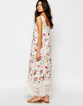 photo Summer Floral Maxi Dress with Lacel Detail by Somedays Lovin, color Multi - Image 2