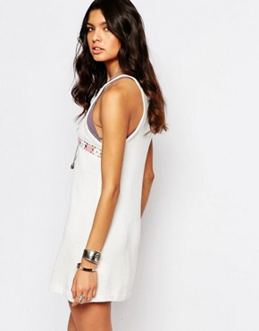 photo Knitted Dress with Pattern Neck by Somedays Lovin, color Cream - Image 2