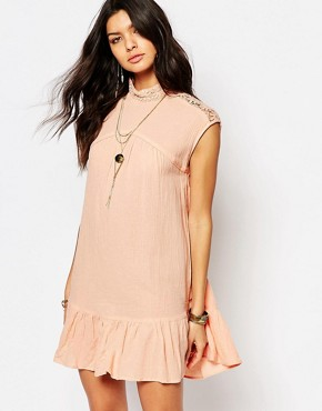 photo Peplum Dress with Open Back by Somedays Lovin, color Blush - Image 2