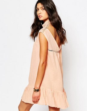 photo Peplum Dress with Open Back by Somedays Lovin, color Blush - Image 1