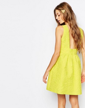 photo Cat Prom Dress in Yellow Jacquard by Paul & Joe Sister, color Yellow - Image 2