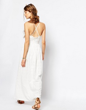 photo Cutwork Ballet Front Maxi Dress in White by Paul & Joe Sister, color White - Image 2