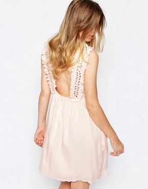 photo Broderie Bib Sundress in Pink by Paul & Joe Sister, color Pink - Image 2