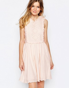 photo Broderie Bib Sundress in Pink by Paul & Joe Sister, color Pink - Image 1