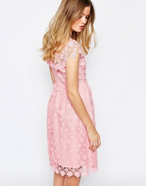 photo Floral Lace Midi Dress in Pink by Paul & Joe Sister, color Pink - Image 2