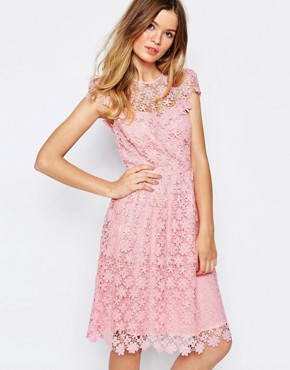 photo Floral Lace Midi Dress in Pink by Paul & Joe Sister, color Pink - Image 1