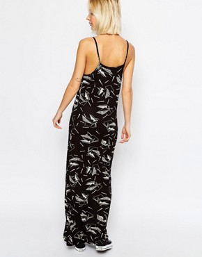 photo Adriana Print Maxi Tank Dress by Dr Denim, color Black - Image 2
