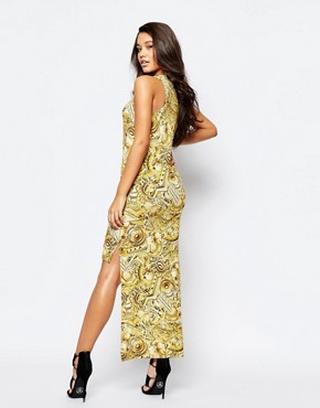 photo Baroque Print High Low Dress by Versace Jeans, color Multi - Image 2