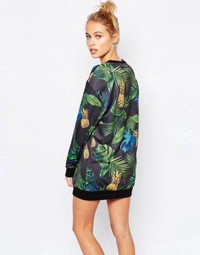 photo Sweat Dress with All Over Eco Print & Rose Gold Logo by Puma, color Multi - Image 2